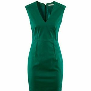 H & M fitted green dress